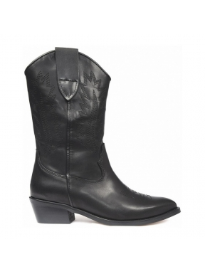 Bota Campera ALPE Rose Bordados NEGRO