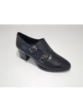 Zapato Hebillas BARMINTON Piel NEGRO