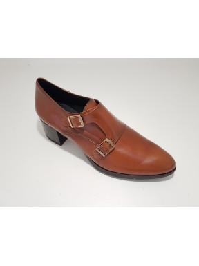 Zapato Hebillas BARMINTON Piel BRANDY