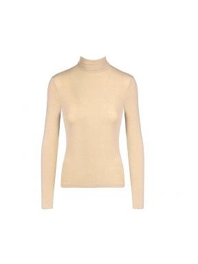 Camiseta Básica BSB Cuello Vuelto CAMEL