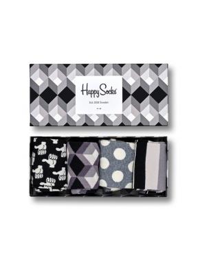 HAPPY SOCKS Black & White Gift Box 41/46