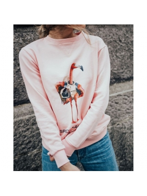 Sudadera SPACE FLAMINGO ligera ROSA