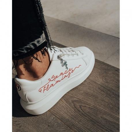 Sneaker SPACE FLAMINGO P Neón BLANCA