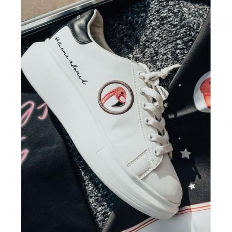 Sneaker SPACE FLAMINGO P Flamingo BLANCA