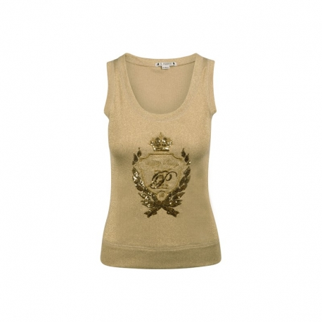Camiseta HPREPPY Lurex ORO