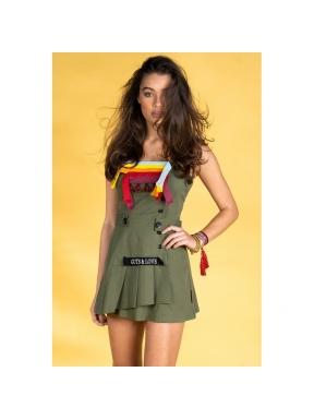 Vestido Pichi GUTS&LOVE Buckle Up KAKI
