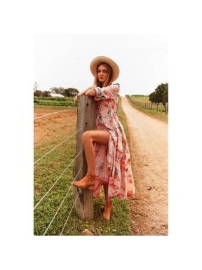 Vestido Largo JAASE Caribe Tessa SALMÓN