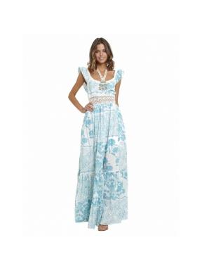 Vestido LUNA MAGA IBIZA Mystic CELESTE