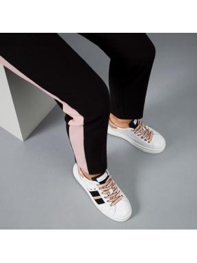 Sneakers NERO GIARDINI Banda BLANCO