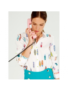 Camisa VILAGALLO Waimea Print BLANCO