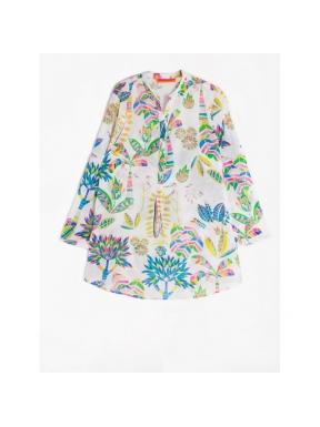 Camisa VILAGALLO Estampada Martha BLANCO