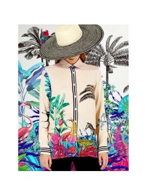 Camisa Dover VILAGALLO Tropical BEIGE
