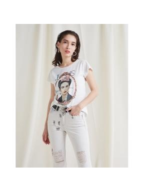 Camiseta BSB Print Frida BLANCO