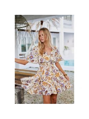 Vestido Corto JAASE Kyla Floral BEIGE