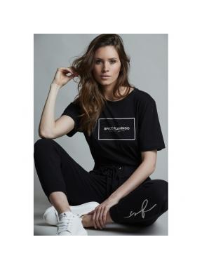 Camiseta SPACE FLAMINGO II Black NEGRO